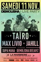 Demolisha Live Party avec Taïro : places à gagner